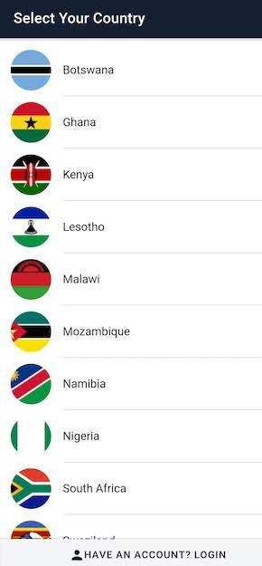 Step 1 - Select countries on Waronga